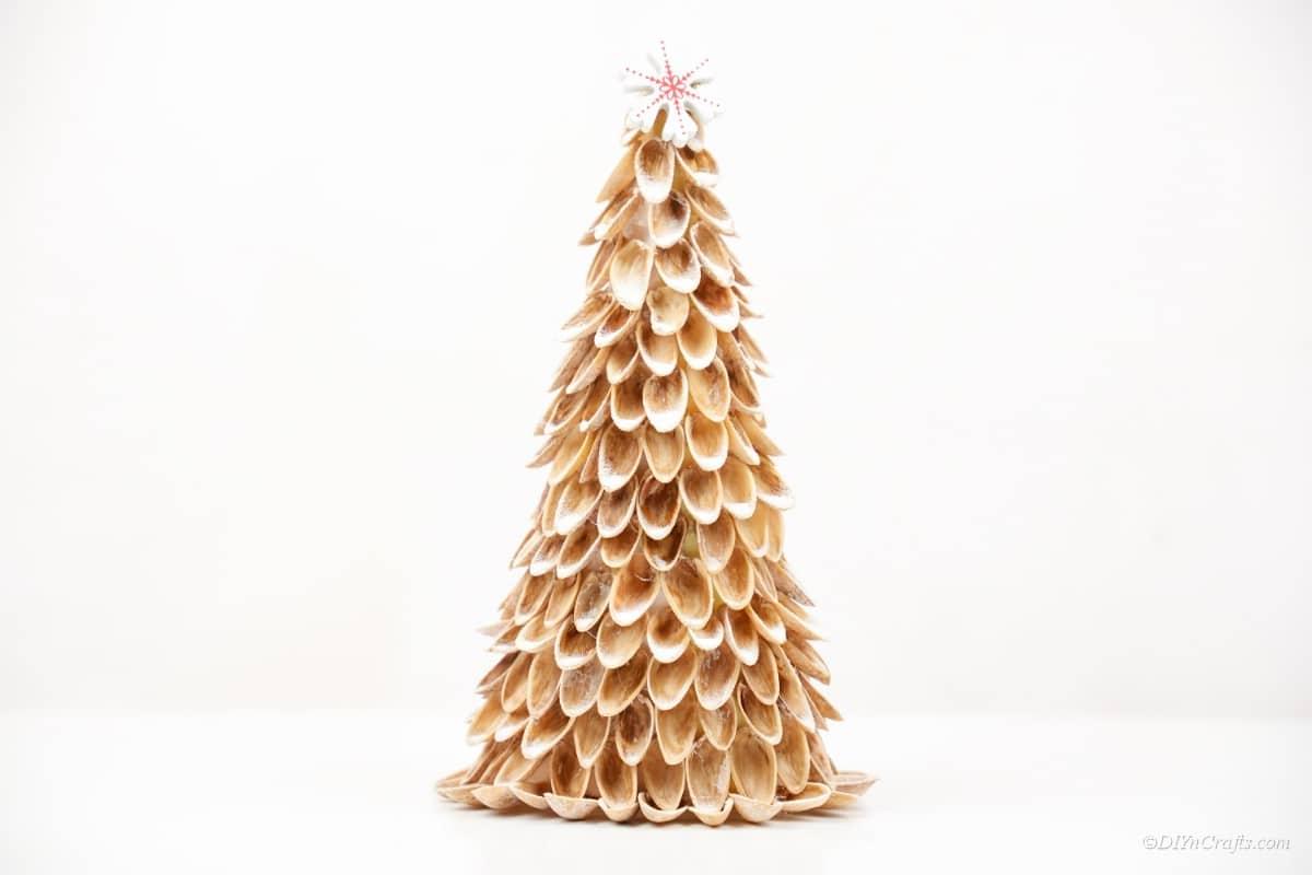 Pistachio Shell Christmas Tree Craft