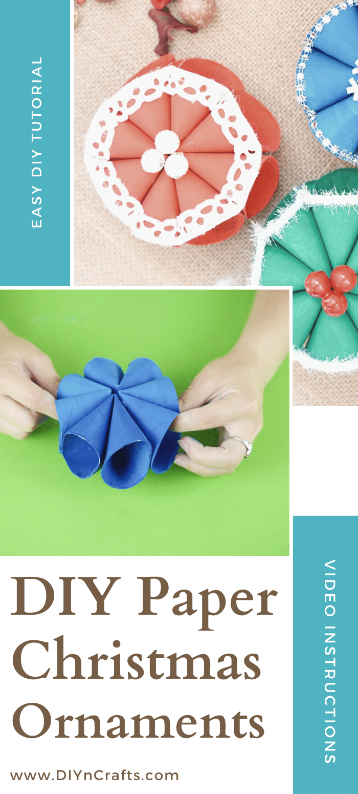 Assembling a toilet paper roll snowflake