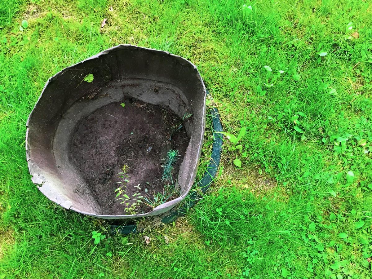 Old bucket.
