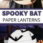 Bat paper lantern collage