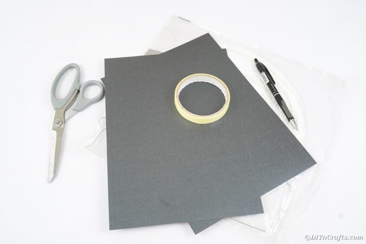 Supplies for bat paper lantern