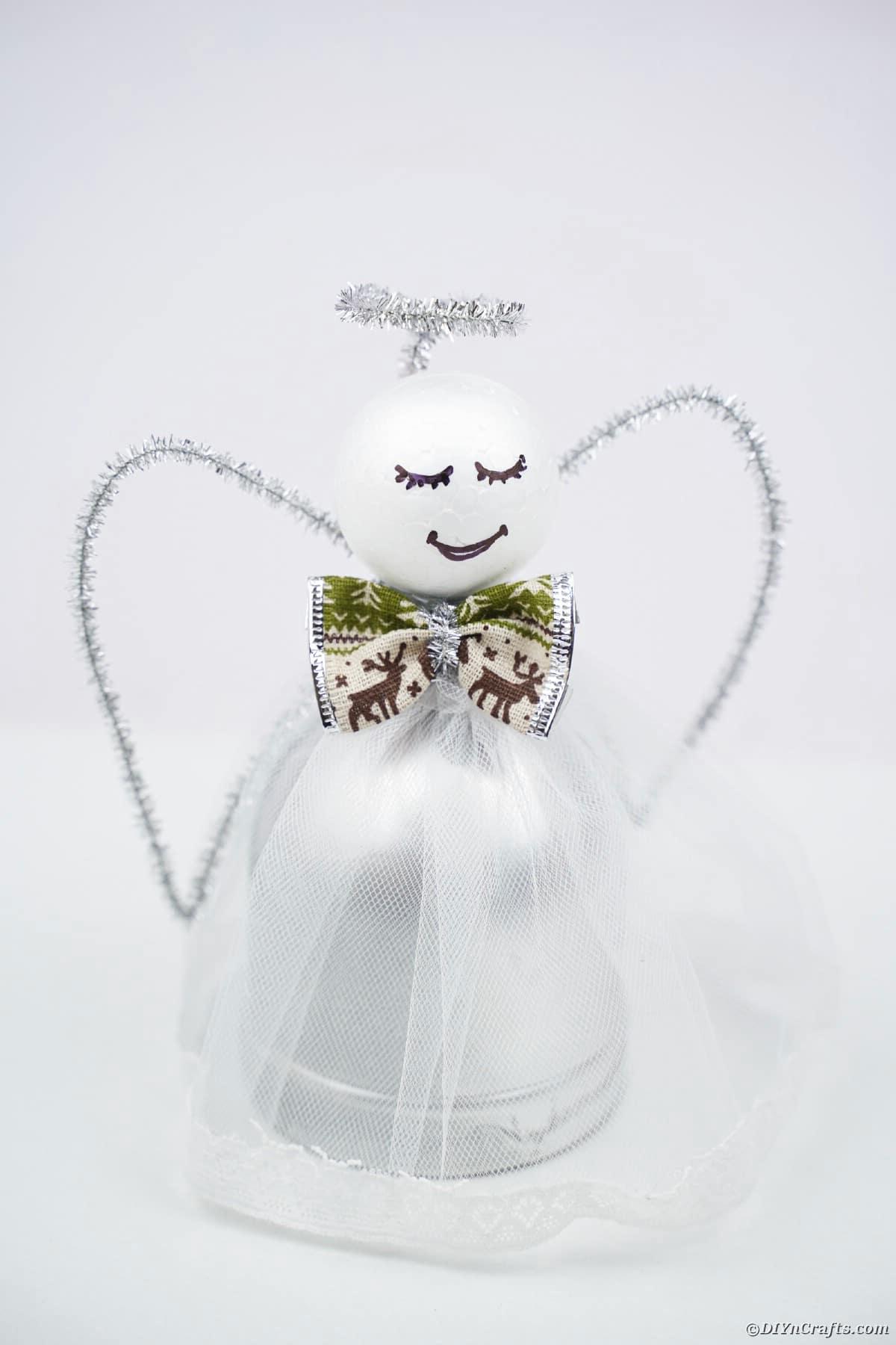Angel on white background