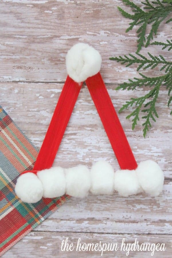 Santa hat on wood