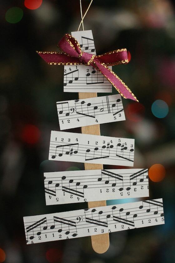 Music sheet tree on tree