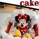 Bassinet diaper cake on table
