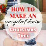 Denim Christmas tree collage