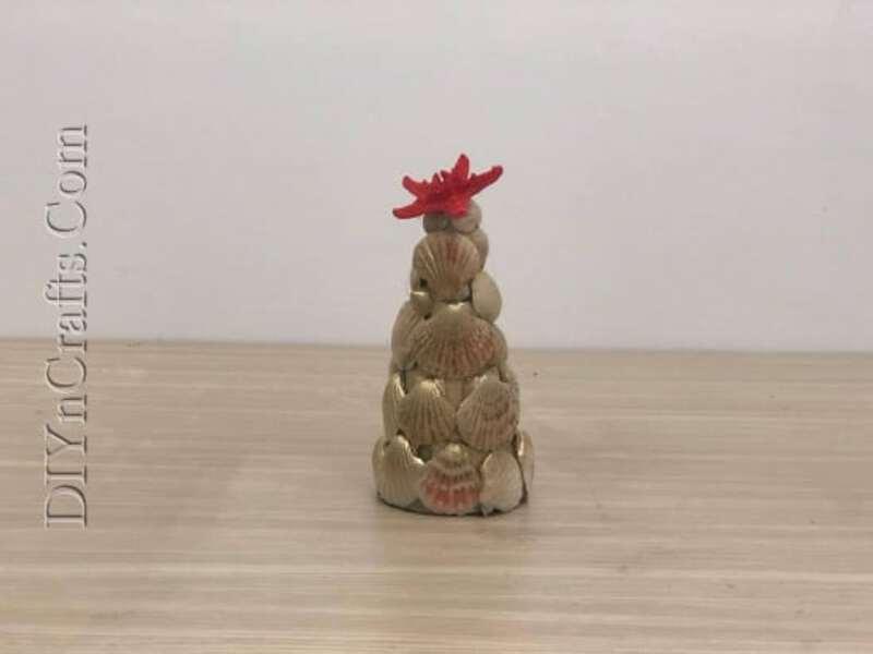Seashell tree on table