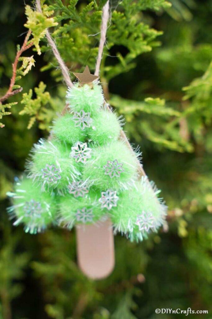 Pom pom tree ornament