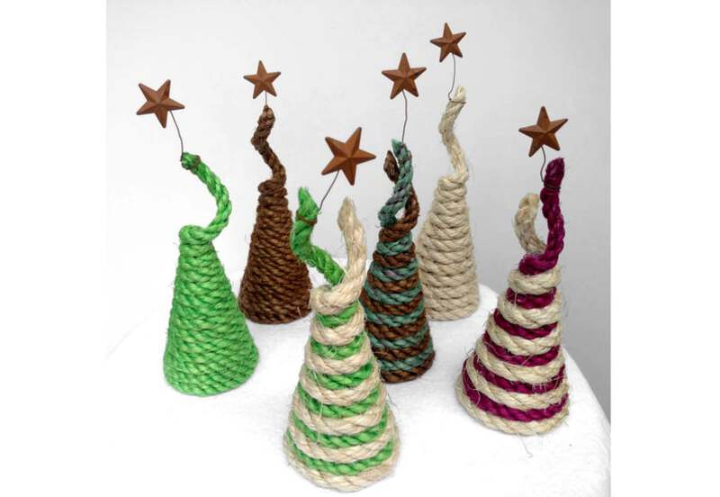 Colorful rope tree with star
