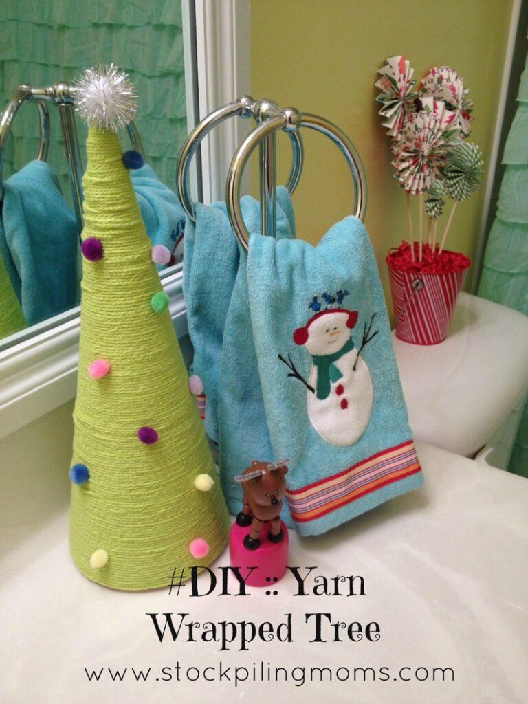 Yarn tree on counter