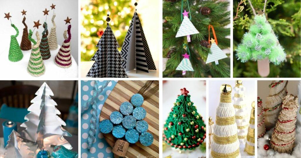 Mini christmas tree collage