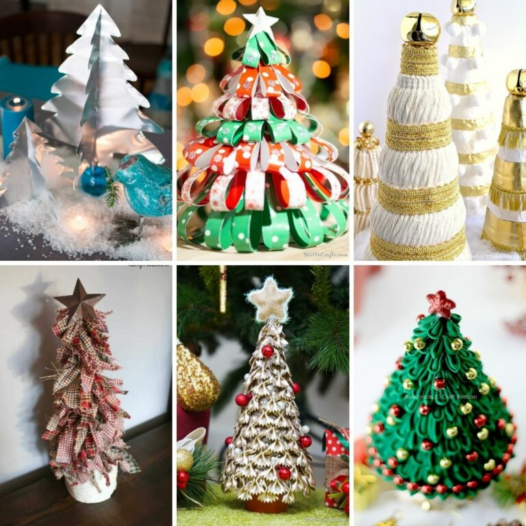 Mini christmas tree collage