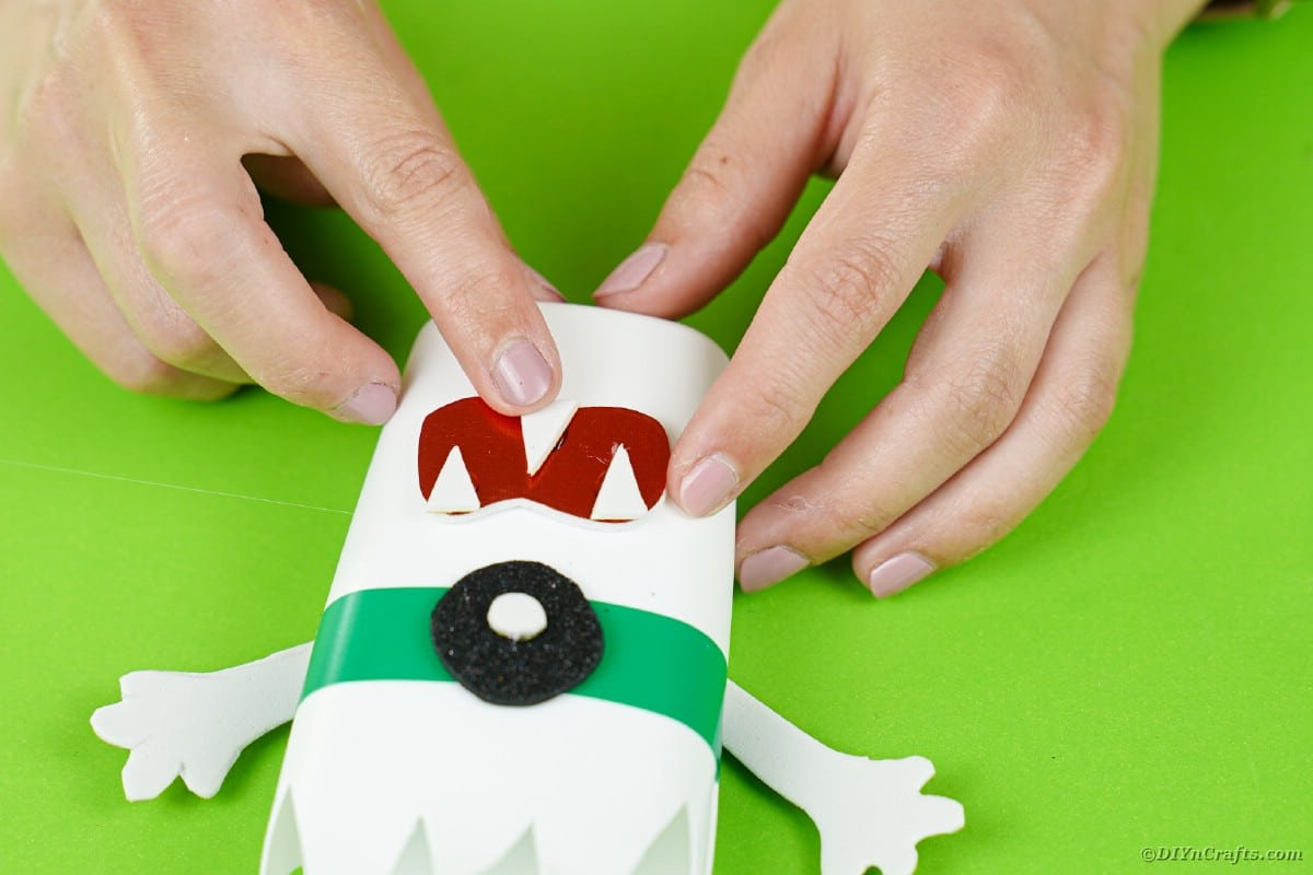 Adding teeth to monster