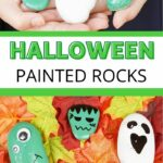 Painted monster rocks collage