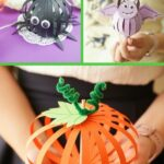 Paper ball decoration collage