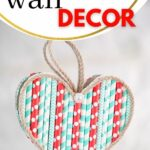 Paper heart on wall