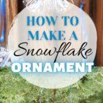 Snowflake ornament collage