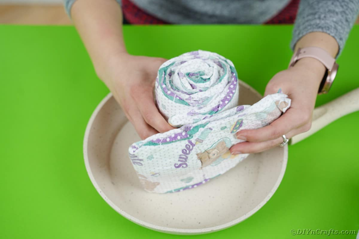Wrapping diapers around each other