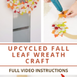 Step by step tutorial for how to make a fall leaf wreath
