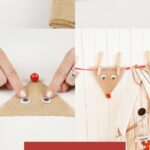 Steps for making your own reindeer banner out of burlap