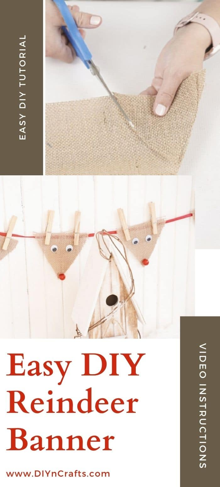 Burlap reindeer banner how to