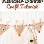 Hanging reindeer bunting banner