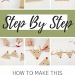 Step by step instructions for making a reindeer banner