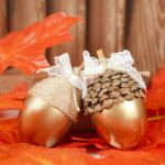 Stunning Decorative Golden Fall Acorn Craft