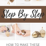 Step by step to make a fall acorn craft
