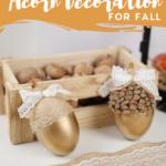 Gold fall acorn decorations