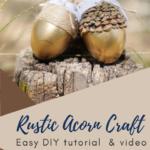 Rustic acorn craft idea for fall