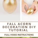 Instructions for making a rustic acorn craft for fall
