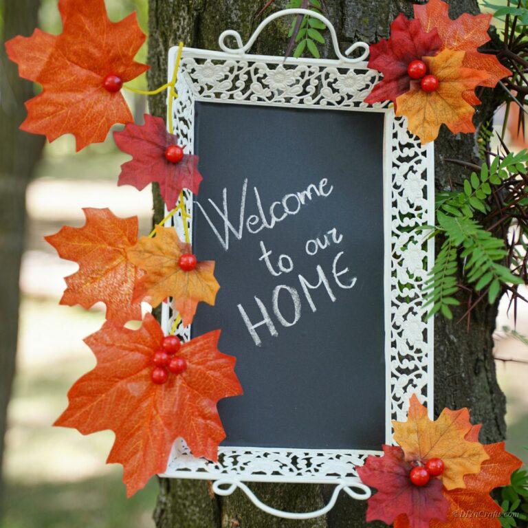 Fall Chalkboard Wreath DIY Tutorial