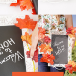 How to make an autumn chalkboard wreath