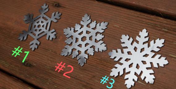 Snowflake Metal Ornaments Christmas Ornament Christmas | Etsy