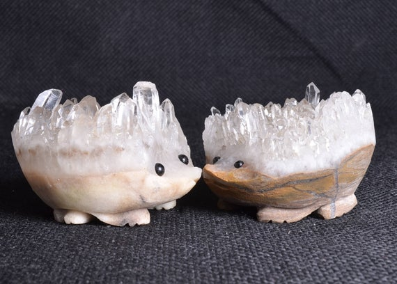 Big Crystal Cluster Hedgehog/Clear | Etsy