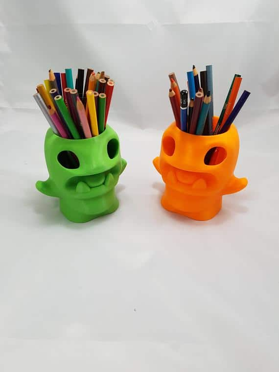 Pencil Cup Monster Pencil Holder For Desk Pencil cup | Etsy