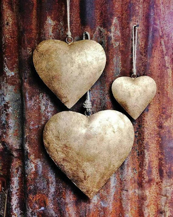 Indian Metal Heart Wall Hanging Ornaments Gifts Decorative   Etsy