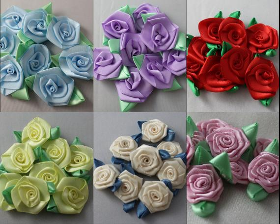 CLEARANCE Ribbon Flowers Flowers Flower Embellishments | Etsy