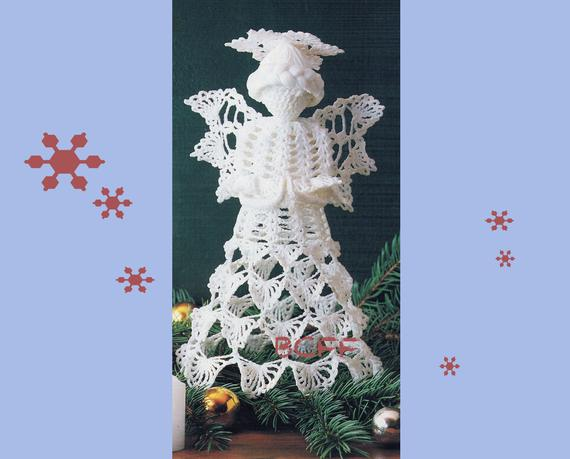 Crochet Angel Pattern Thread Crochet Christmas Angel Home | Etsy