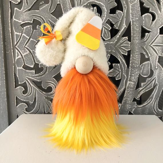 Halloween Gnome Candy Corn Gnome | Etsy