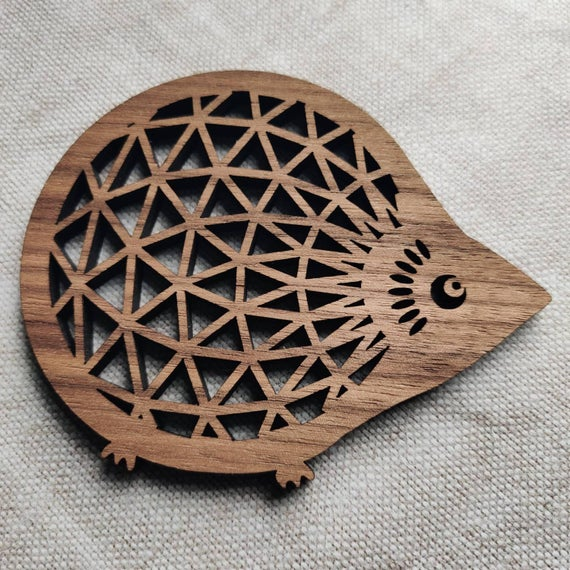 Hedgehog coaster housewarming gift thank you gift wood | Etsy