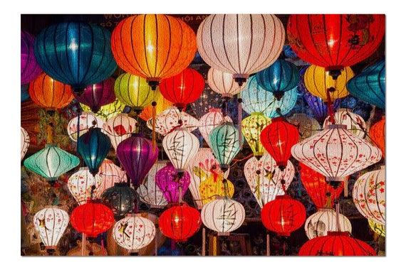 Colorful Paper Lanterns 9005375 19x26 Premium 1000 Piece | Etsy