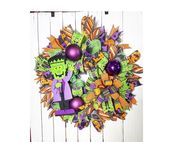 Halloween Front Porch Frankenstein Decoration Monster | Etsy