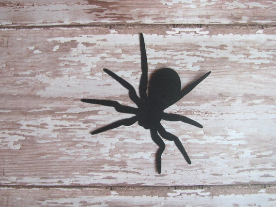 Spider Die Cuts 20 pcs Paper Shapes Cardstock Cutouts | Etsy