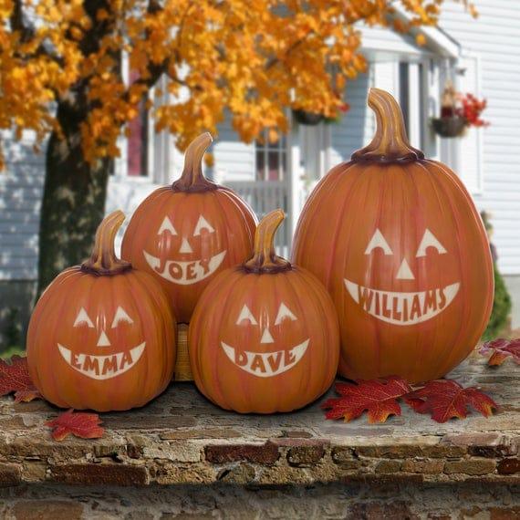 Personalized Jack-O-Lantern Pumpkin Halloween Decor Custom | Etsy