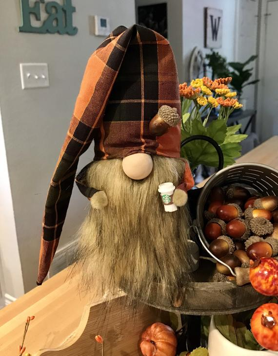 Holiday gnome Fall gnome autumn gnome acorn gnome tomte | Etsy