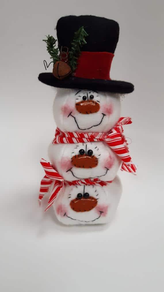 Stacked snowmen decoration snowmen snowman decor snowman | Etsy