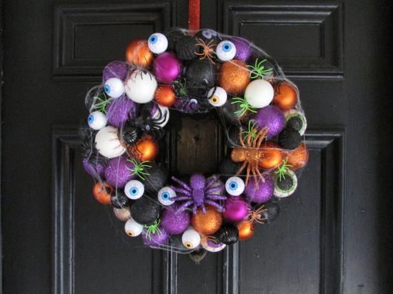 Halloween ornament wreath | Etsy