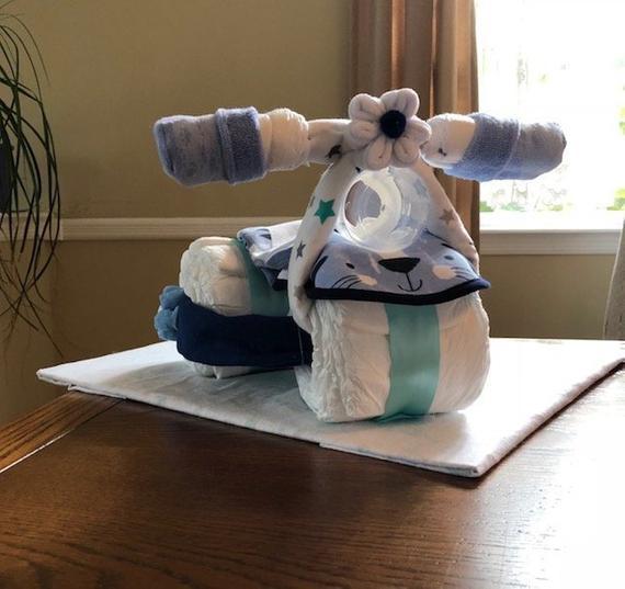 Diaper Bike Cake Diaper Tricycle Diaper Cake Baby Boy Cake | Etsy
